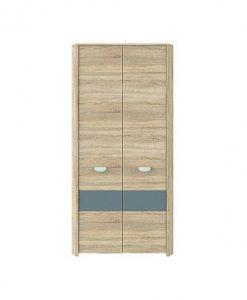Šatní skříň  YOOP - Šatní skříně barva dřeva - Sconto nábytek