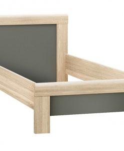 Postel  YOOP - Postele šedá - Sconto nábytek