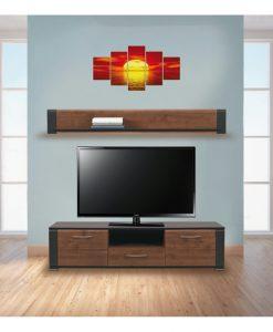 TV stěna   NONA - Obývací stěny barva dřeva - Sconto nábytek