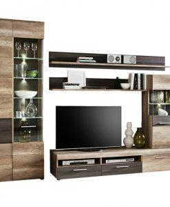 Obývací stěna  DANTE - Obývací stěny barva dřeva - Sconto nábytek