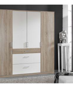 Šatní skříň  CLICK - Šatní skříně barva dřeva - Sconto nábytek