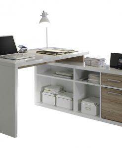 Rohový psací stůl  TOKYO - Stoly a stolky bílá - Sconto nábytek