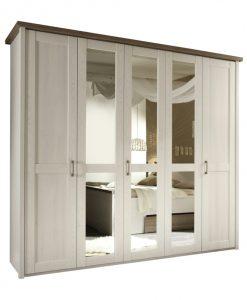 Šatní skříň   LUCA - Šatní skříně bílá - Sconto nábytek