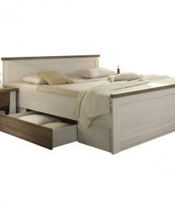 Postel + noční stolky   LUCA - Postele bílá - Sconto nábytek