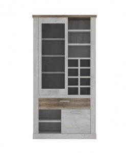 Vitrína   DURO - Vitríny barva dřeva - Sconto nábytek