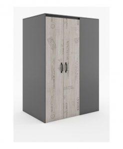 Rohová skříň  SANTANA SA-00L - Šatní skříně šedá - Sconto nábytek