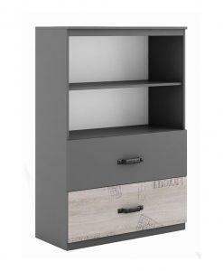 Skříňka   SANTANA SA-07 - Regály černá - Sconto nábytek