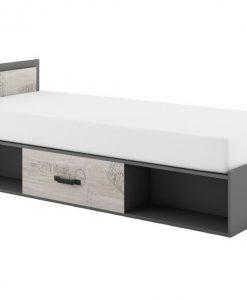 Postel  SANTANA SA-16 - Postele šedá - Sconto nábytek