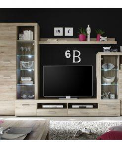 Obývací stěna   FESTIVAL - Obývací stěny barva dřeva - Sconto nábytek
