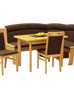 Jídelní sestava   IBIZA 3 - Židle hnědá - Sconto nábytek