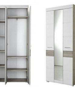 Předsíňová skříň   FUNNY - Předsíňové skříně barva dřeva - Sconto nábytek