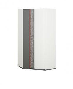 Rohová šatní skříň  PHILOSOPHY PH-01 - Šatní skříně bílá - Sconto nábytek