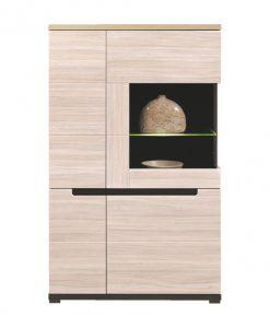 Vitrína   ENIS DS5 - Vitríny barva dřeva - Sconto nábytek