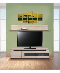 TV sestava  ENIS - Obývací stěny barva dřeva - Sconto nábytek