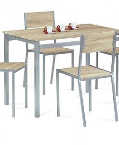 Jídelní sestava   HARVEY SON - Židle barva dřeva - Sconto nábytek