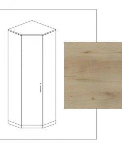 Rohová skříň   MULTIRAUMKONZEPT 650 - Šatní skříně barva dřeva - Sconto nábytek