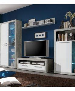 Obývací stěna   STONE - Obývací stěny bílá - Sconto nábytek