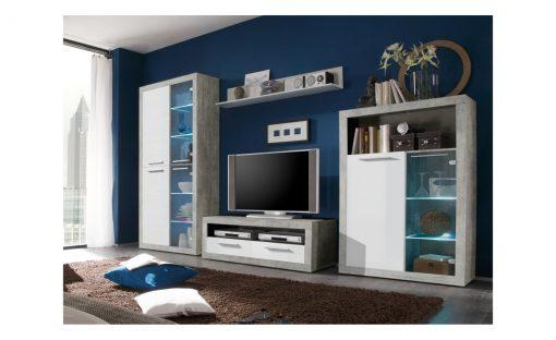 Obývací stěna   STONE – Obývací stěny bílá