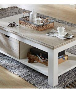 Konferenční stolek  LIMA 02 - Stoly a stolky bílá - Sconto nábytek