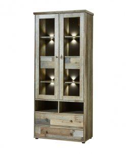 Vitrína  BONANZA - Vitríny barva dřeva - Sconto nábytek