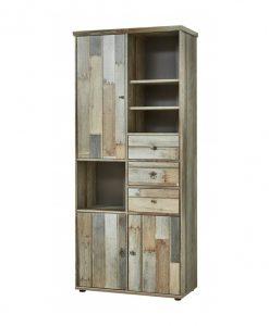 Regál  BONANZA - Regály barva dřeva - Sconto nábytek