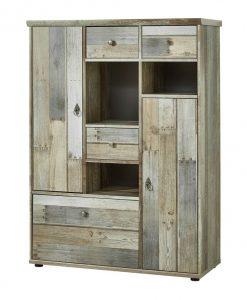 Komoda  BONANZA - Komody barva dřeva - Sconto nábytek