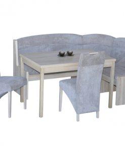 Rohová jídelní sestava   MOLDAU - Židle šedá - Sconto nábytek