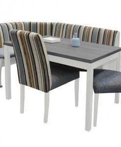 Rohová jídelní sestava   DENIS - Židle šedá - Sconto nábytek