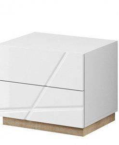 Noční stolek    FUTURA 14 - Noční stolky bílá - Sconto nábytek