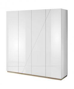 Šatní skříň   FUTURA 11 - Šatní skříně bílá - Sconto nábytek