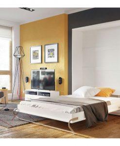 Výklopná postel  CONCEPT CP-01 - Postele bílá - Sconto nábytek