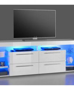 TV stolek  GOAL - TV stolky bílá - Sconto nábytek