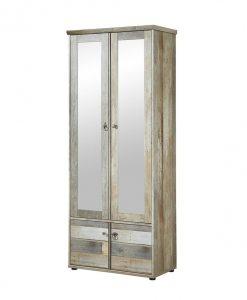 Předsíňová skříň   BONANZA - Šatní skříně barva dřeva - Sconto nábytek