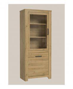 Vitrína  CUVA - Vitríny barva dřeva - Sconto nábytek