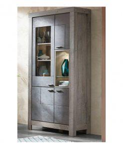 Vitrína  PORTO - Vitríny barva dřeva - Sconto nábytek
