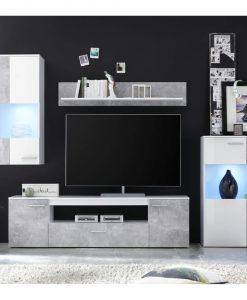 Obývací stěna   VULCAN - Obývací stěny bílá - Sconto nábytek