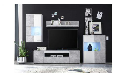 Obývací stěna   VULCAN – Obývací stěny bílá