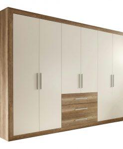 Šatní skříň   FERNANDO - Šatní skříně bílá - Sconto nábytek