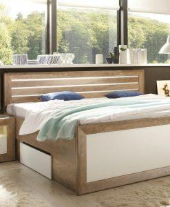 Postel   FERNANDO - Postele barva dřeva - Sconto nábytek