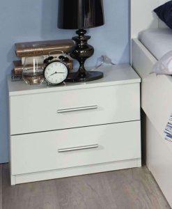 Noční stolek  ISOTTA WT - Noční stolky bílá - Sconto nábytek