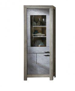 Vitrína  PORTO - Vitríny šedá - Sconto nábytek