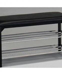 Botník  LANCASTER - Skrinky na topánky černá - Sconto nábytek