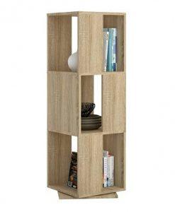 Otočný regál   NETTO - Regály barva dřeva - Sconto nábytek