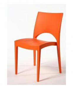 Jídelní židle  PARIS - Židle oranžová - Sconto nábytek