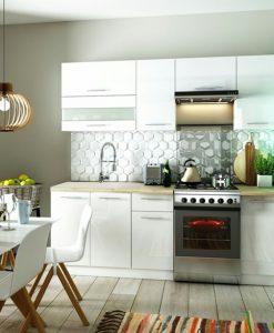 Kuchyňská linka  FANY 220 - Kuchyňské linky bílá - Sconto nábytek