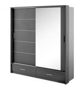 Šatní skříň   ARTI AR-05 s osvětlením - Šatní skříně černá - Sconto nábytek