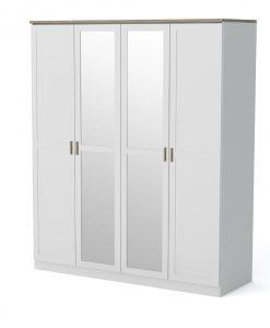 Šatní skříň  MERANO 20 - Šatní skříně bílá - Sconto nábytek