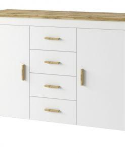 Komoda  MERANO 03 - Komody bílá - Sconto nábytek