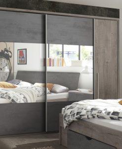 Šatník skříň  MERWIN - Šatní skříně barva dřeva - Sconto nábytek