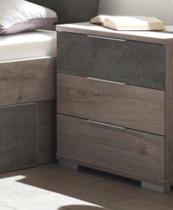 Noční stolek   MERWIN - Noční stolky barva dřeva - Sconto nábytek
